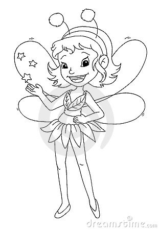 Black and white - Little fairy