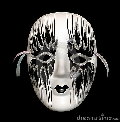 Black-and-white mask