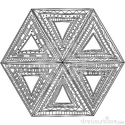 Black And White Pattern Of Triangles