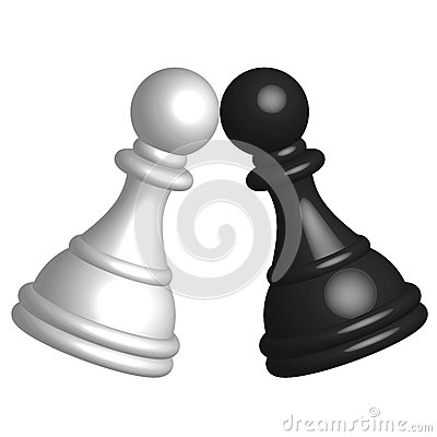 Black and white pawn