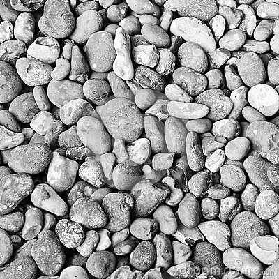 Black and white pebble background