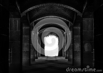 Black And White Photo Of A Tunnel Free Public Domain Cc0 Image