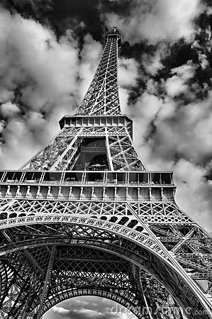 Eiffel Tower Picture Black  White on Stock Photos  Black And White Picture Of The Eiffel Tower  Image