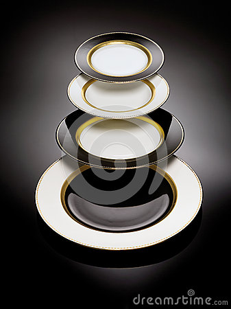 Black and white plates