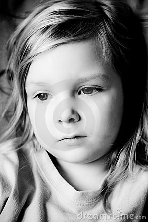 Black and white portrait.
