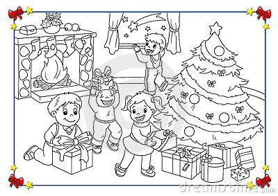 Black and white poster of Christmas