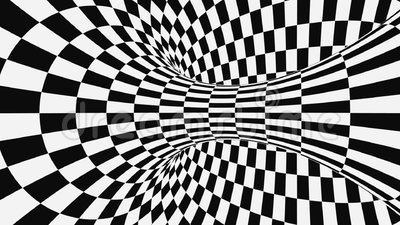 black white psychedelic optical illusion abstract hypnotic animated background checkered geometric looping monochrome 158830849