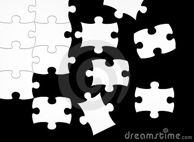 Black and white puzzle