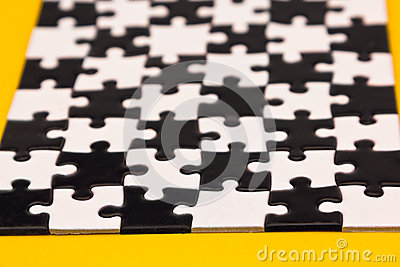 Black and white puzzles