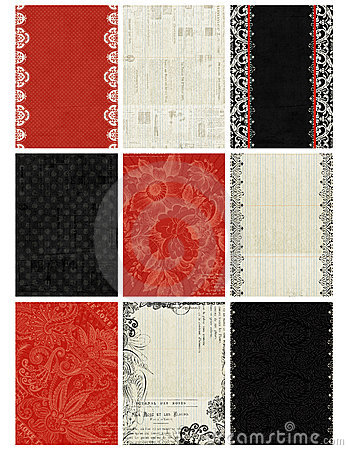 Free Black, White, Red Artist Trading Card Backgrounds Royalty Free Stock Photo - 14191525