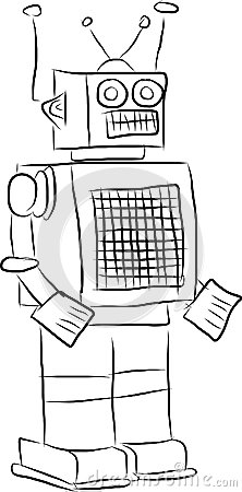 Black and white robot