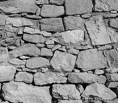 Black and White Rock Wall Background