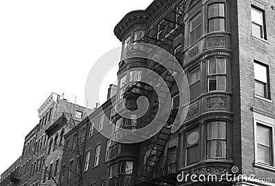 Black and white round windows