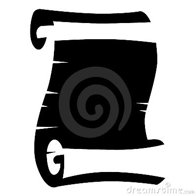 Black-and-white scroll