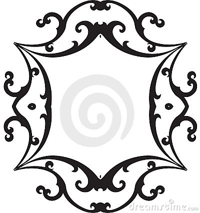 Black & White Scroll Frame
