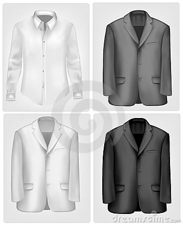 Black and white shirt and suit. Vector