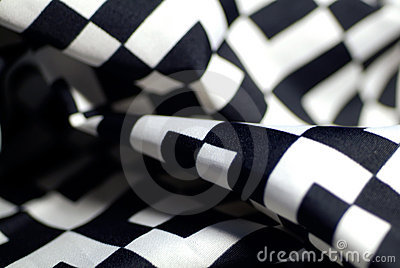 Black-and-white silk