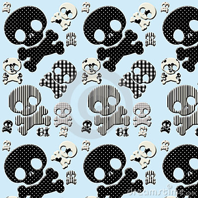 black and white skull and crossbones