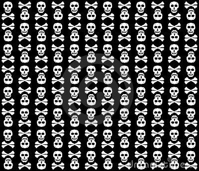 Black&White skulls background.