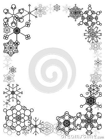 Black And White Snow Frame Stock Photo Image 10981130