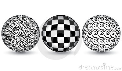 Black and white spheres