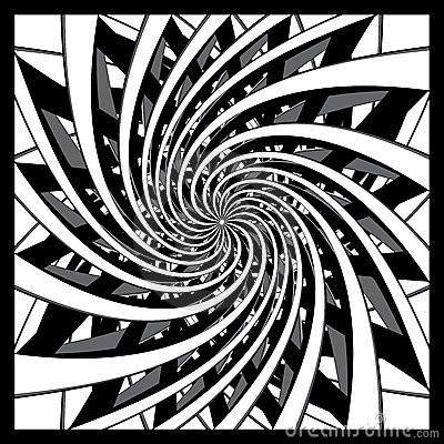 Black and white spiral design