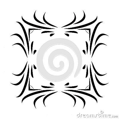 Black & White Square Frame