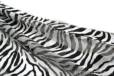 Black-and-white striped fabric