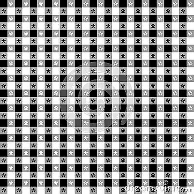 Black & White Tablecloth Seamless Pattern