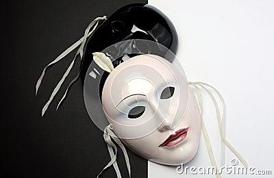 Black and white theme ceramic masks