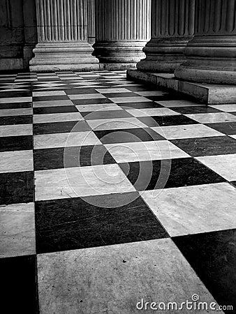 . Black And White Tiled Floor  Stock Illustration   Image  70500837