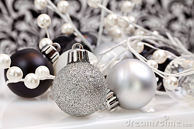Black And White Trendy Christmas Ornaments
