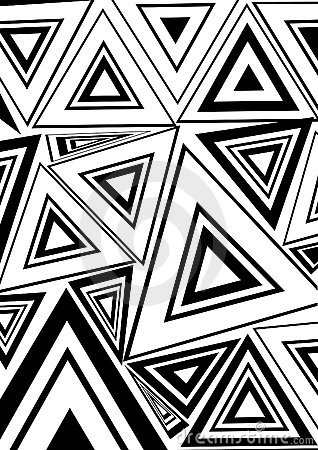 Black And White Triangle Stock Images - Image: 11507104