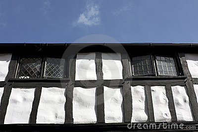 Black and White Tudor Building, England