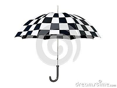 Black and white umbrella