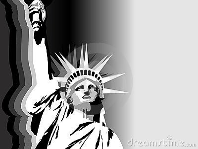 Black-and-white USA liberty background