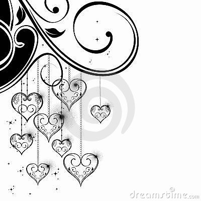 Black and White Valentine Heart