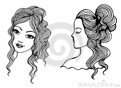 Black and white vector sketches