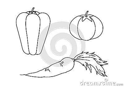 Black and white - vegetable