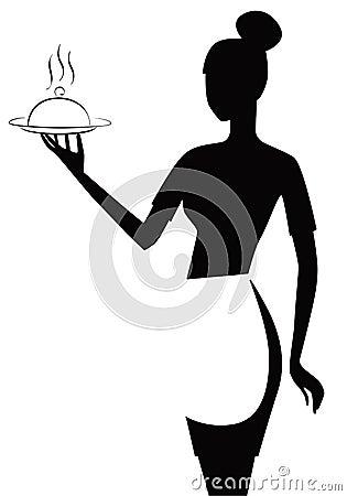 Black And White Waitress Stock Images Image 14434594