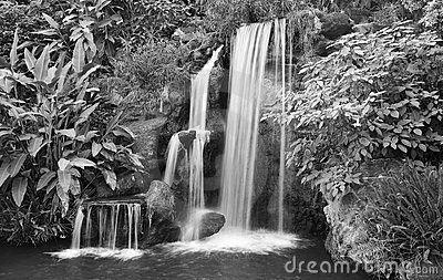Black And White Waterfall Stock Photos - Image: 7164443