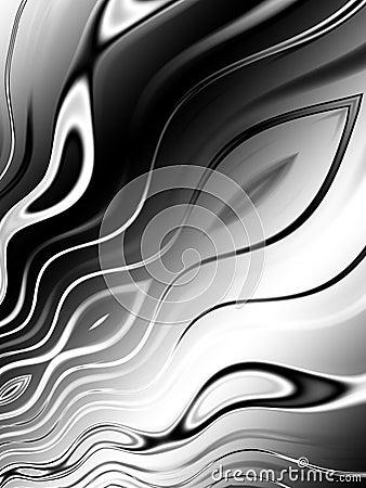Black White Wavy Lines Pattern
