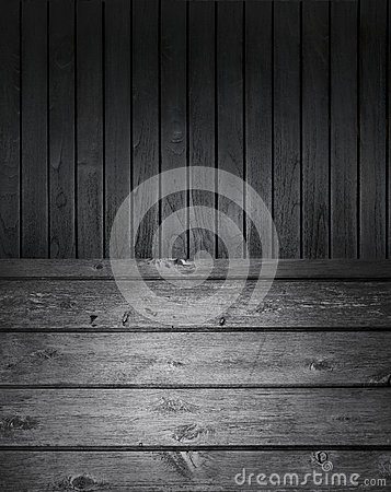 Black And White Wood Background