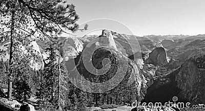 Black and White Yosemite National Park, California