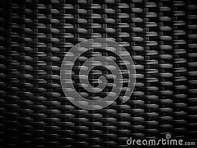Black wicker pattern