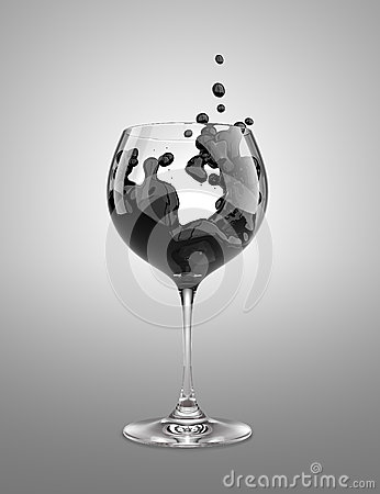 Black wineglass