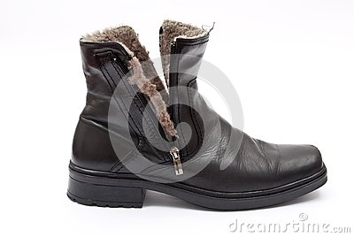 Black winter boot