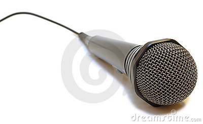 Black wired karaoke microphone.