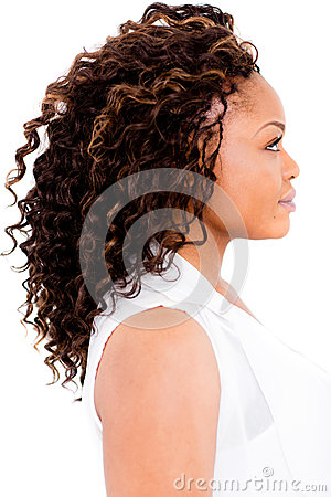 Black woman with an afro