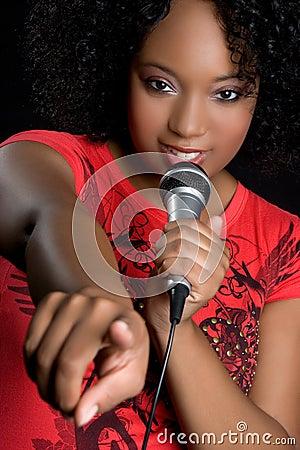 Free Black Woman Singing Stock Image - 10071551